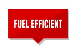 Fuel efficient price tag. Fuel efficient red square price tag Stock Image