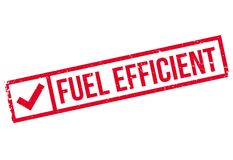 Fuel efficient stamp Royalty Free Stock Photos