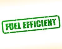Fuel efficient text stamp. Illustration of fuel efficient text stamp Royalty Free Stock Photography