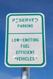 Fuel Efficient Vehicles Sign Stock Image
