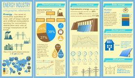 Fuel and energy industry infographic, set elements for creating Royalty Free Stock Images
