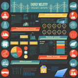 Fuel and energy industry infographic, set elements for creating stock illustration