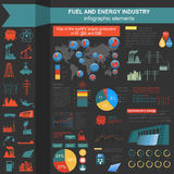 Fuel and energy industry infographic, set elements for creating Stock Images