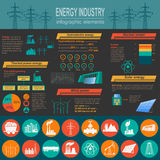 Fuel and energy industry infographic, set elements for creating Royalty Free Stock Photo