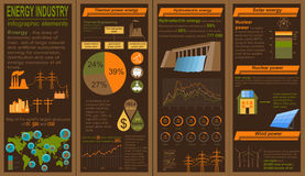 Fuel and energy industry infographic, set elements for creating Royalty Free Stock Image