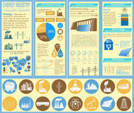 Fuel and energy industry infographic, set elements for creating. Your own infographics. Vector illustration royalty free illustration