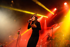 Fuel Fandango (electronic, funk, fusion and flamenco band) in concert at Apolo Stock Photography
