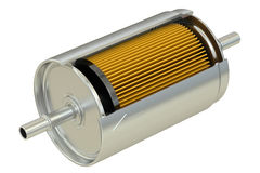 Fuel Filter cutaway. 3D rendering Royalty Free Stock Photos