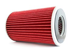Fuel filter for engine car Stock Photos