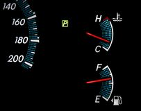 Fuel Gas Gauges Stock Image