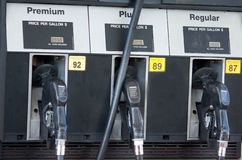 Fuel or Gas Pumps. At Station Stock Photos