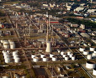 Fuel and gas refinery. Kralupy nad Vltavou Royalty Free Stock Image
