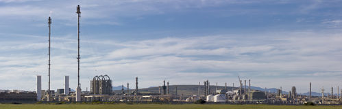 Fuel and Gas refinery panorama Royalty Free Stock Images