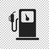 Fuel gas station icon. Car petrol pump flat illustration Royalty Free Stock Images