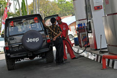 Fuel gas station Stock Image