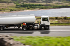 Fuel gas tanker truck Stock Photography