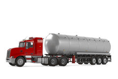 Fuel gas tanker truck isolated Stock Image