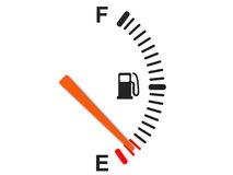 Fuel gauge. 3d illustration of generic fuel gauge, over white background Royalty Free Stock Photography