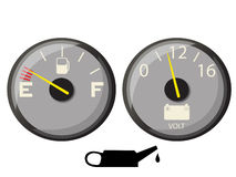 Fuel gauge Stock Images