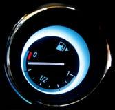 Fuel gauge. Automobile dasboard round fuel gauge Stock Photography