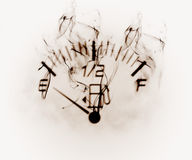 Fuel gauge. Illustration of the fuel scale in the smoke Royalty Free Stock Images