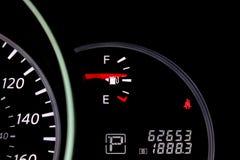 Fuel gauge. Automotive fuel gasoline gage gauge Royalty Free Stock Images