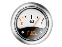 Fuel gauge. Stock Photos