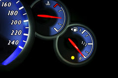 Fuel gauge dash board close up Royalty Free Stock Photography