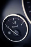 Fuel gauge detail Stock Image