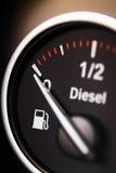 Fuel gauge - diesel Stock Images