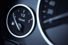 Fuel gauge - diesel Stock Photography