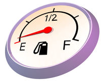 Fuel gauge - empty Stock Image