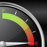 Fuel gauge empty Royalty Free Stock Photos