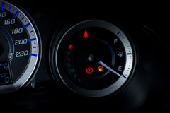 Fuel gauge empty close up Stock Photography