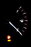 Fuel gauge empty. Concept energy is running out.fuel gauge empty royalty free stock images