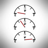 Fuel Gauge. Empty / Full Concepts Royalty Free Stock Images