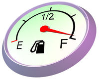 Fuel gauge - full Royalty Free Stock Images
