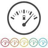 Fuel gauge icon, Full gas tank, 6 Colors Included. Simple vector icons set Royalty Free Stock Photography