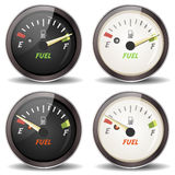 Fuel Gauge Icons Set Stock Photo