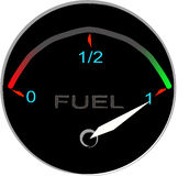 Fuel gauge illustration Stock Photos