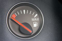 Fuel Gauge Reading Full Royalty Free Stock Images