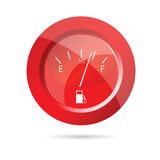 Fuel gauge red icon vector illustration Stock Image