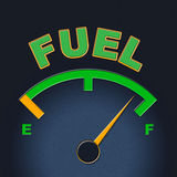 Fuel Gauge Represents Power Source And Dial Royalty Free Stock Images