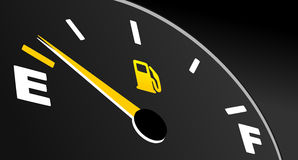Fuel gauge showing empty tank Stock Photography