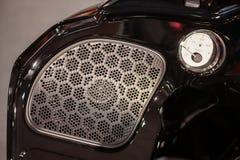 Fuel gauge and speaker Royalty Free Stock Image