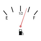 Fuel gauge with symbol vector illustration Royalty Free Stock Photography