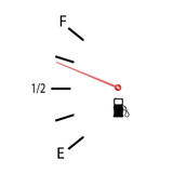 Fuel gauge vector illustration with symbol Stock Images