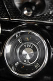 Fuel Gauge Of A Vintage Car Stock Photos