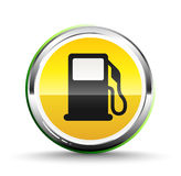 Fuel icon. Isolated on white royalty free illustration