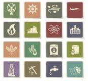 Fuel icon set Stock Image